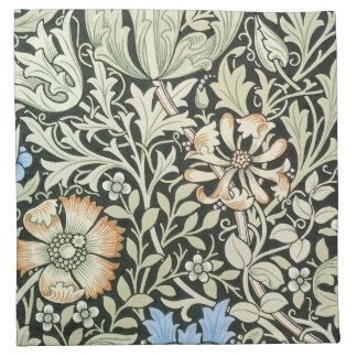 William Morris floral design Cloth Napkin