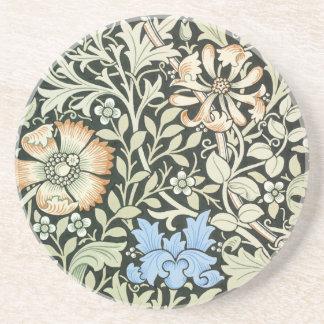 William Morris floral design Coaster