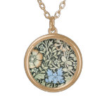 William Morris floral design Personalized Necklace