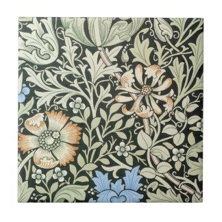 William Morris floral design Tile
