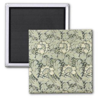 William Morris Floral Fabric Design Cards 2 Inch Square Magnet