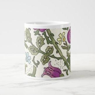 William Morris Floral Giant Coffee Mug
