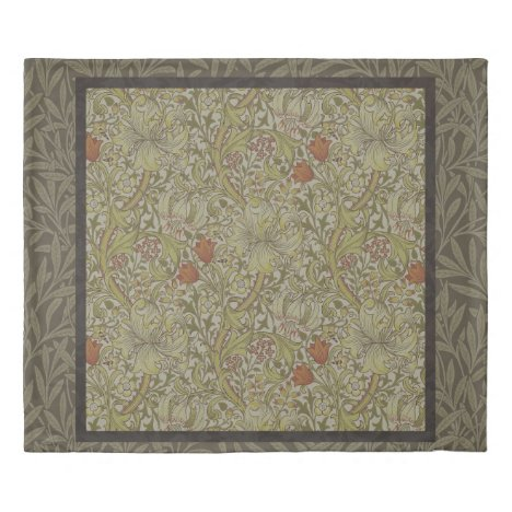 William Morris Floral lily willow art print design Duvet Cover