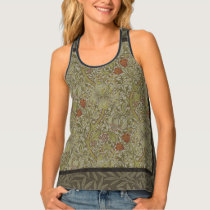 William Morris Floral lily willow art print design Tank Top