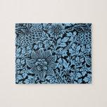 William Morris Floral Pattern Bird Flowers Jigsaw Puzzles