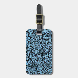 William Morris Floral Pattern Bird Flowers Tag For Luggage