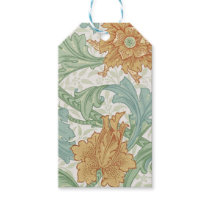 William Morris Floral Pattern Single Stem Gift Tags