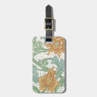 William Morris Floral Pattern Single Stem Travel Bag Tag