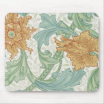 William Morris Floral Pattern Single Stem Mouse Pad