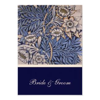 "William Morris Floral Pattern Wedding Invitation 5"" X 7"" Invitation Card"