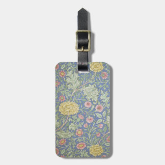 William Morris Floral Wallpaper designed in 1890 Travel Bag Tags