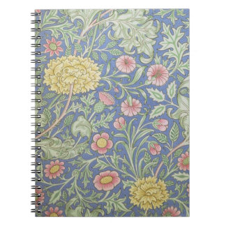 William Morris Floral Wallpaper, designed in 1890 Spiral Notebook