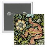 William Morris Flower design Button