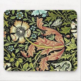 William Morris Flower Design Mousepad mousepad
