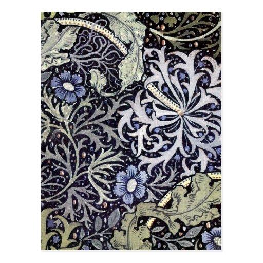 William Morris Flowers Post Card