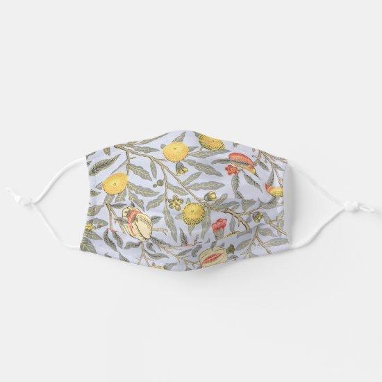 William Morris Fruit Pattern Peach Lemon Adult Cloth Face Mask
