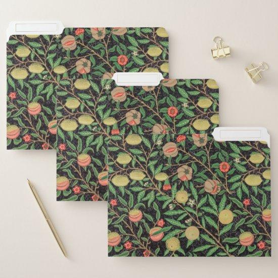 William Morris Fruit Pomegranate Floral Pattern File Folder