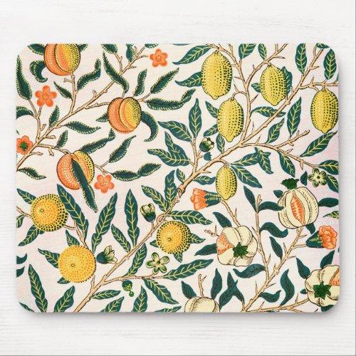 William Morris Fruit Pomegranate White Ornament Mouse Pad