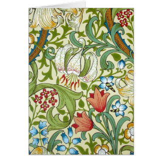 William Morris Garden Lily Wallpaper Card