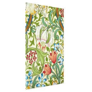 William Morris Garden Lily Wallpaper Fine Art Canvas Print