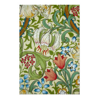 William Morris Garden Lily Wallpaper Fine Art Poster