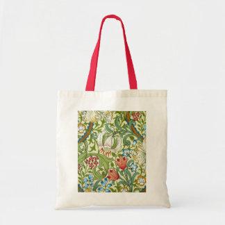William Morris Garden Lily Wallpaper Tote Bag