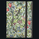 """William Morris Golden Lily Floral Chintz Pattern Case For iPad Air<br><div class=""""desc"""">Add a touch of English country cottage charm to your iPad with this beautiful William Morris Golden Lily floral chintz pattern Powis iPad case with kickstand. Golden Lily is at once elegant and uplifting You feel as if you are peeking through a lattice fence at the profusion of spring flowers...</div>"""