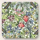 William Morris Golden Lily Floral Chintz Pattern Drink Coaster
