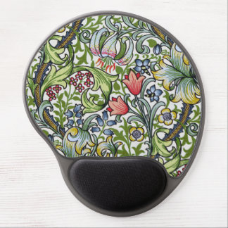 William Morris Golden Lily Floral Chintz Pattern Gel Mouse Pad