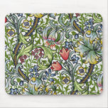 William Morris Golden Lily Floral Chintz Pattern H Mouse Pad