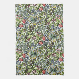 William Morris Golden Lily Floral Chintz Pattern Hand Towel at Zazzle