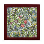 William Morris Golden Lily Floral Chintz Pattern Jewelry Boxes