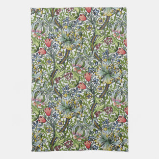 William Morris Golden Lily Floral Chintz Pattern Kitchen Towels