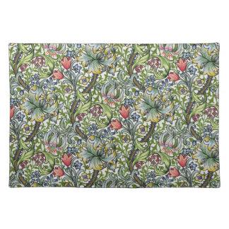 William Morris Golden Lily Floral Chintz Pattern Place Mat