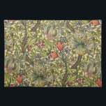 "William Morris Golden Lily Placemat<br><div class=""desc"">Golden Lily by William Morris. Vintage Victorian art nouveau floral pattern.</div>"