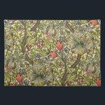 """William Morris Golden Lily Placemat<br><div class=""""desc"""">Golden Lily by William Morris. Vintage Victorian art nouveau floral pattern.</div>"""