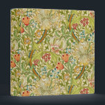 """William Morris Golden Lily Vintage Pre-Raphaelite 3 Ring Binder<br><div class=""""desc"""">William Morris Golden Lily Floral Vintage Art Wallpaper Design William Morris was an English textile designer, artist, writer, and socialist associated with the Pre-Raphaelite Brotherhood and British Arts and Crafts Movement. He founded a design firm in partnership with the artist Edward Burne-Jones, and the poet and artist Dante Gabriel Rossetti...</div>"""