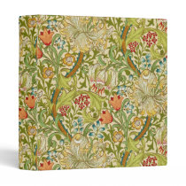 William Morris Golden Lily Vintage Pre-Raphaelite 3 Ring Binder