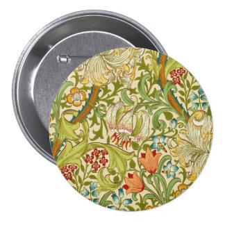 William Morris Golden Lily Vintage Pre-Raphaelite Button