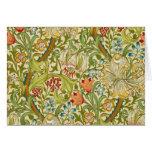 William Morris Golden Lily Vintage Pre-Raphaelite Card