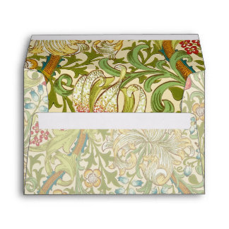 William Morris Golden Lily Vintage Pre-Raphaelite Envelope