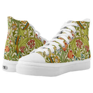 William Morris Golden Lily Vintage Pre-Raphaelite High-Top Sneakers
