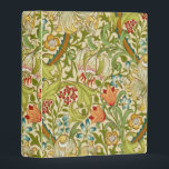 """William Morris Golden Lily Vintage Pre-Raphaelite Mini Binder<br><div class=""""desc"""">William Morris Golden Lily Floral Vintage Art Wallpaper Design William Morris was an English textile designer, artist, writer, and socialist associated with the Pre-Raphaelite Brotherhood and British Arts and Crafts Movement. He founded a design firm in partnership with the artist Edward Burne-Jones, and the poet and artist Dante Gabriel Rossetti...</div>"""