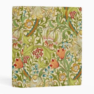 William Morris Golden Lily Vintage Pre-Raphaelite Mini Binder