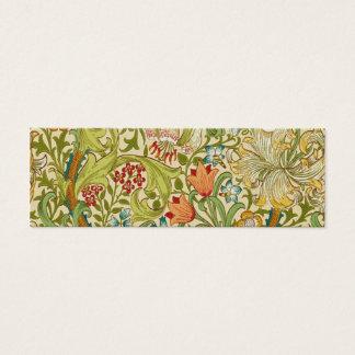 William Morris Golden Lily Vintage Pre-Raphaelite Mini Business Card