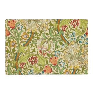 William Morris Golden Lily Vintage Pre-Raphaelite Placemat