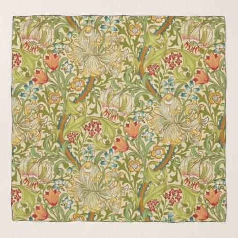 William Morris Golden Lily Vintage Pre-Raphaelite Scarf