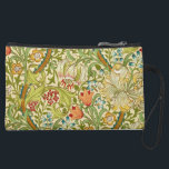 "William Morris Golden Lily Vintage Pre-Raphaelite Suede Wristlet<br><div class=""desc"">William Morris Golden Lily Floral Vintage Art Wallpaper Design William Morris was an English textile designer, artist, writer, and socialist associated with the Pre-Raphaelite Brotherhood and British Arts and Crafts Movement. He founded a design firm in partnership with the artist Edward Burne-Jones, and the poet and artist Dante Gabriel Rossetti...</div>"