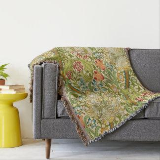 William Morris Golden Lily Vintage Pre-Raphaelite Throw Blanket