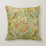 William Morris Golden Lily Vintage Pre-raphaelite Throw Pillow at Zazzle